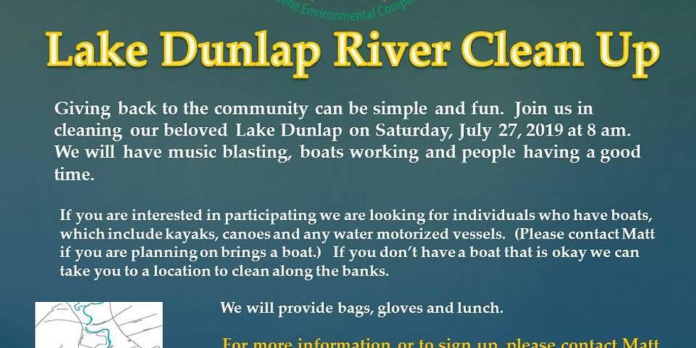 Lake Dunlap River Clean-Up