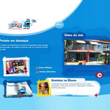 Criação de site para a escola de Educação Infantil Bloom.