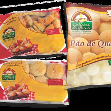 Embalagens salgados e pão de queijo