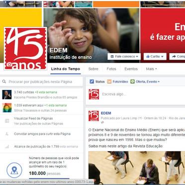 Capa Facebook Escola EDEM