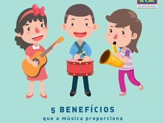 5 benefícios que a música proporciona  às crianças