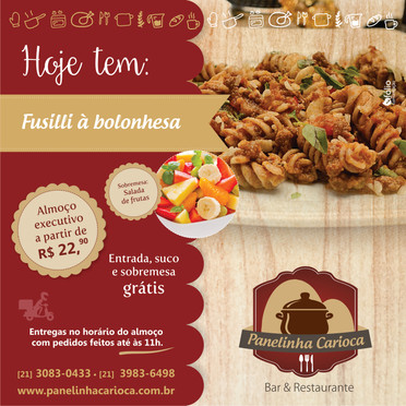 Post de Facebook para o restaurante Panelinha Carioca