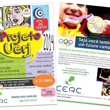 Cartaz e Newsletter para o colégio CERC.