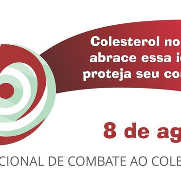 Selo para campanha de controle do colesterol da Sociedade Brasileira de Endrocnologia.