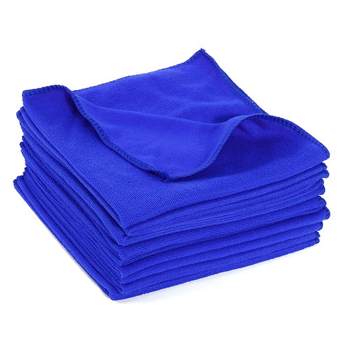 AUGUST RACE MICROFIBRE CLEANING & DRYING CLOTH - LARGE BLUE MICROFIBRE CLOTHS