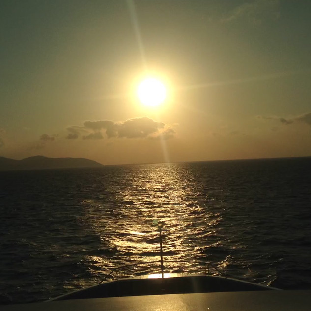 Timelapse Of A Sunset Out at Sea