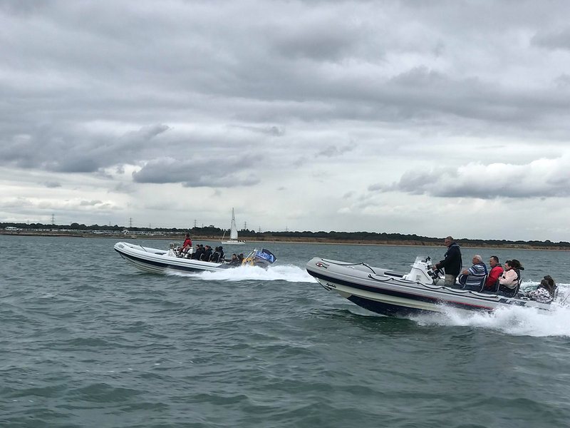 Portsmouth RIB Charter and another RIB in Southampton water
