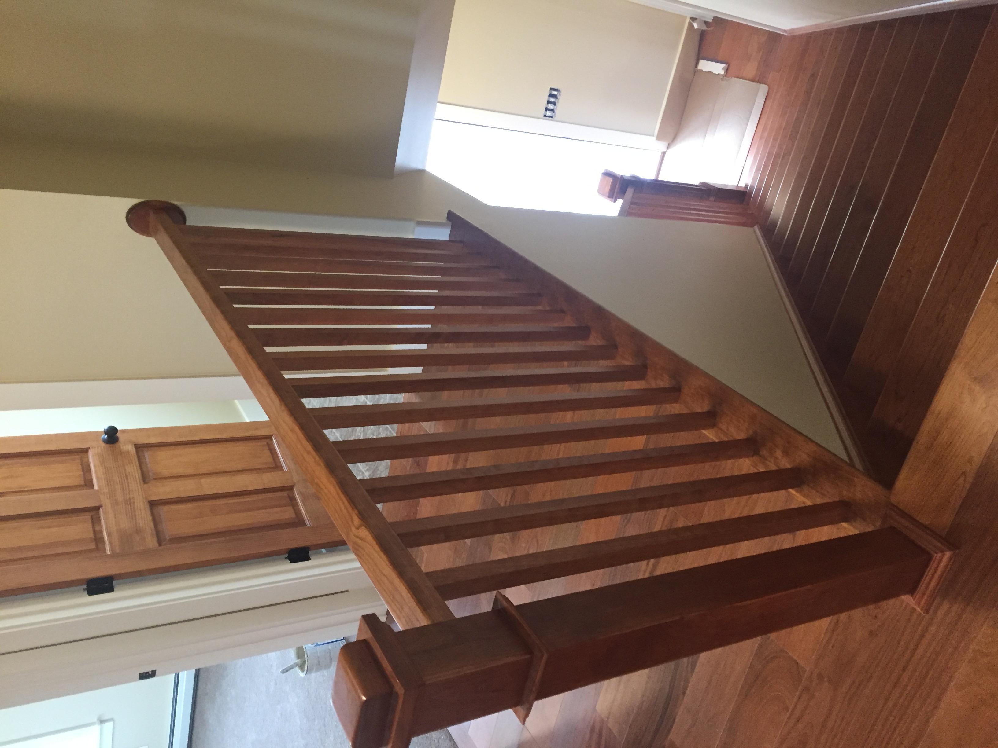 hardwood railing