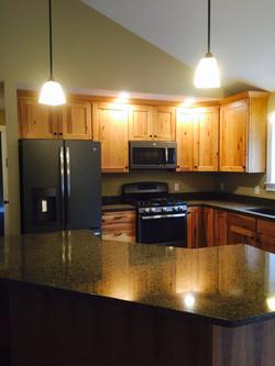 Hickory kitchen / granite tops