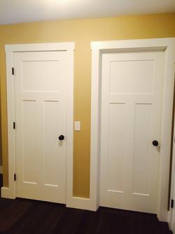 Craftsman doors with Farmhouse trim