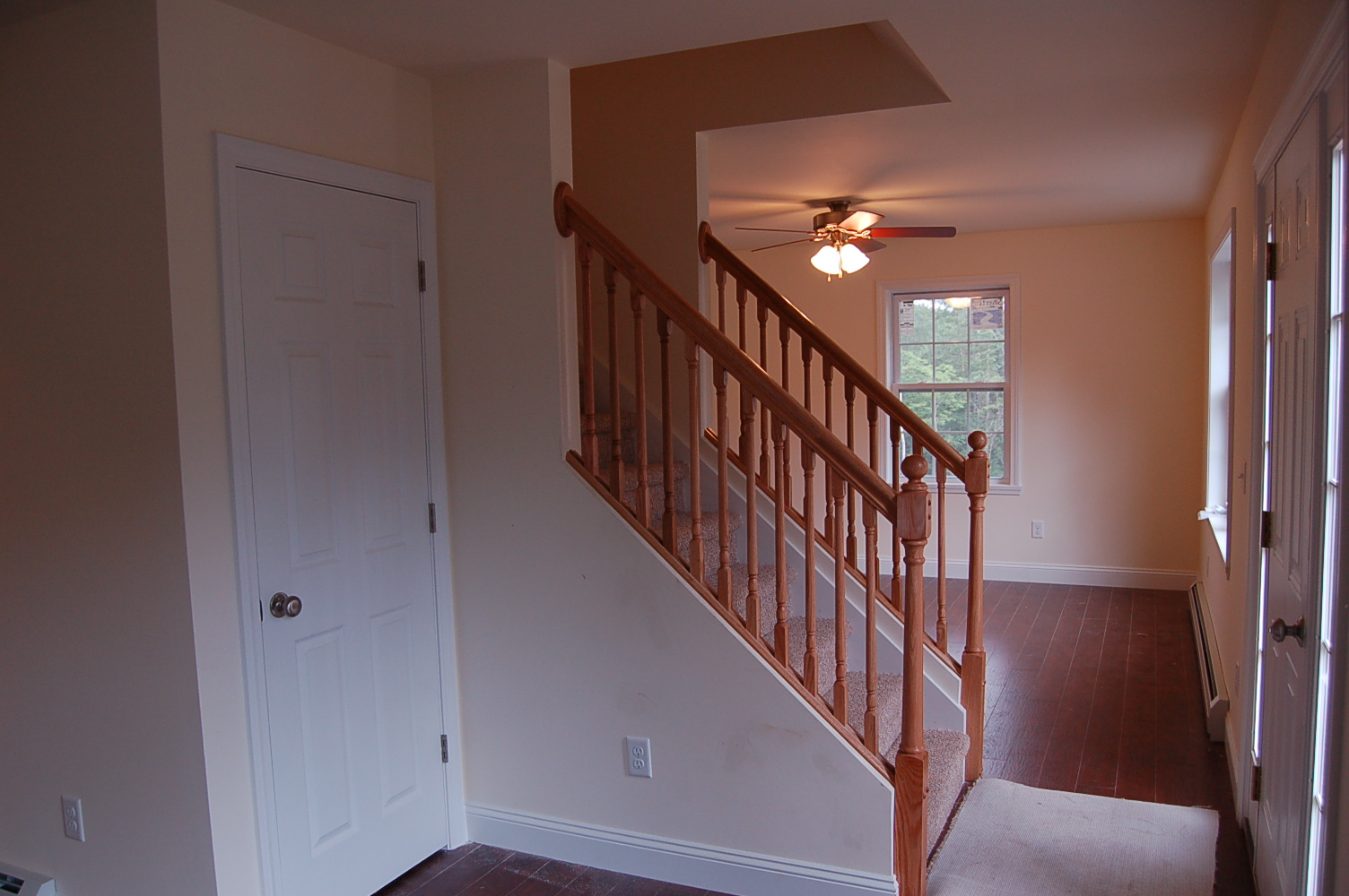 Oak stair rail