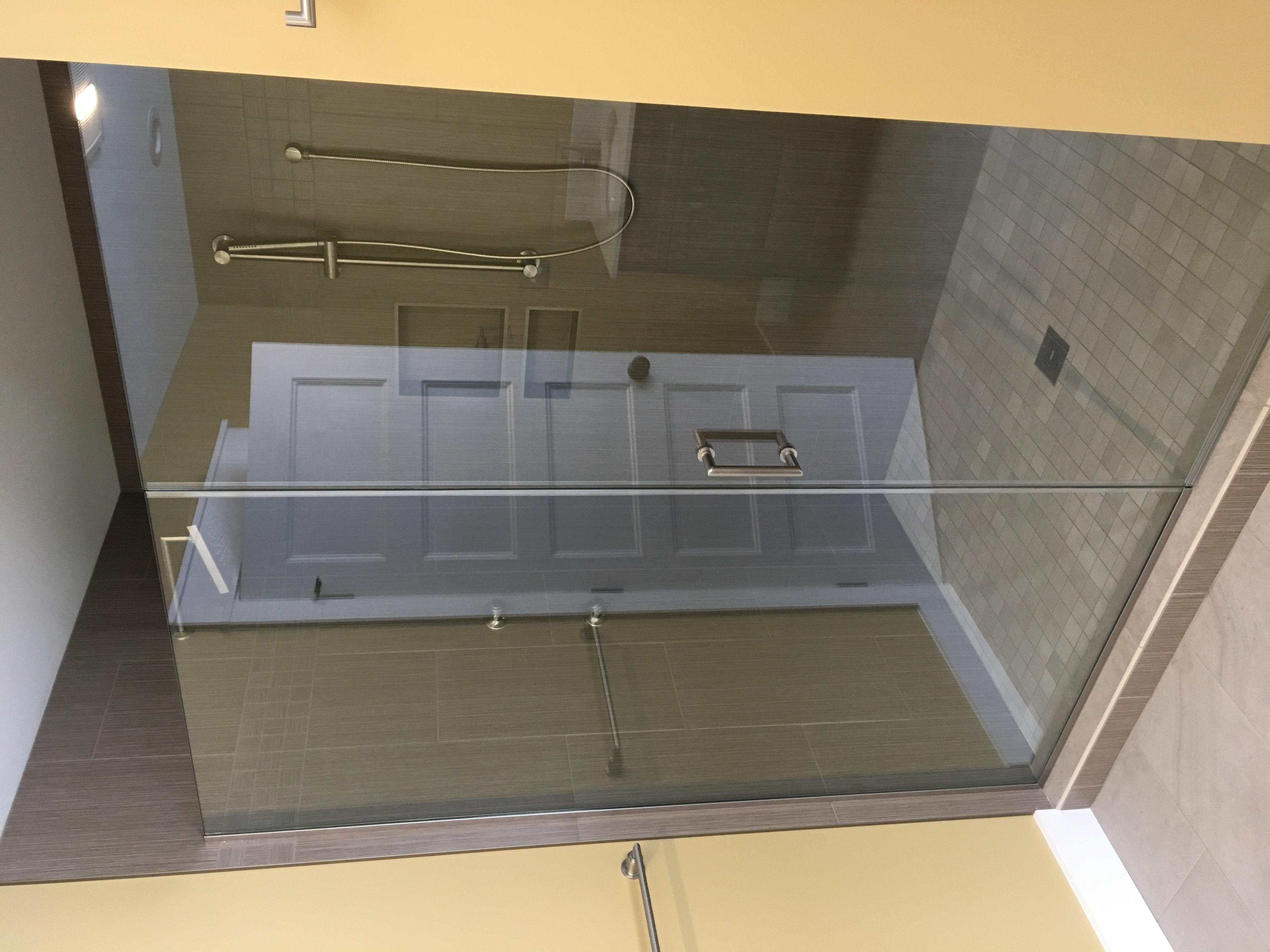 Custom shower door
