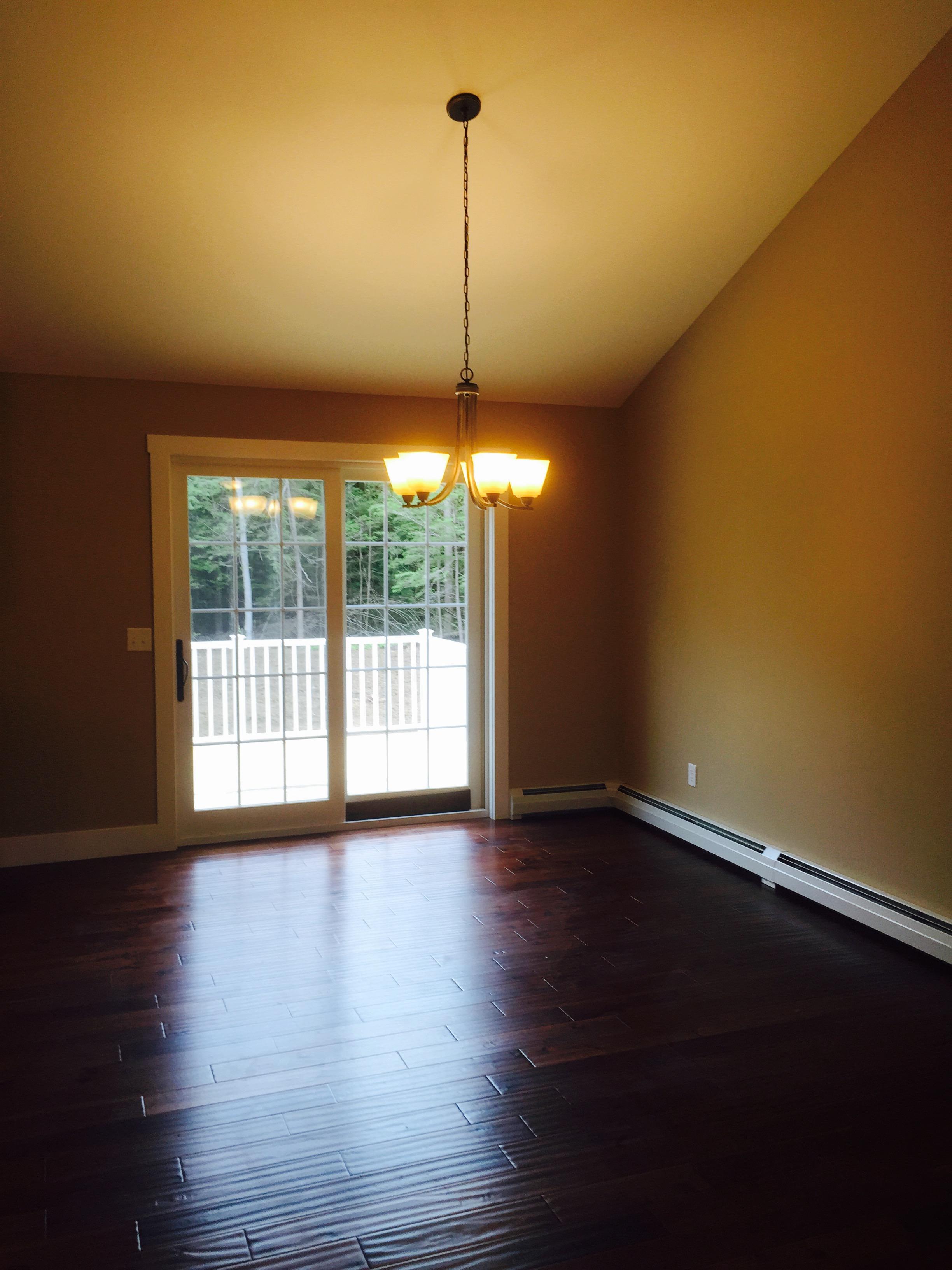 Dining room with hardwood floors