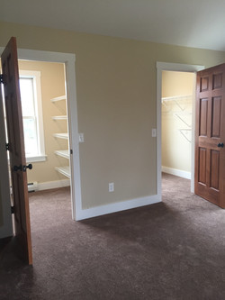 Double walk in closets