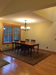 Finished dining area