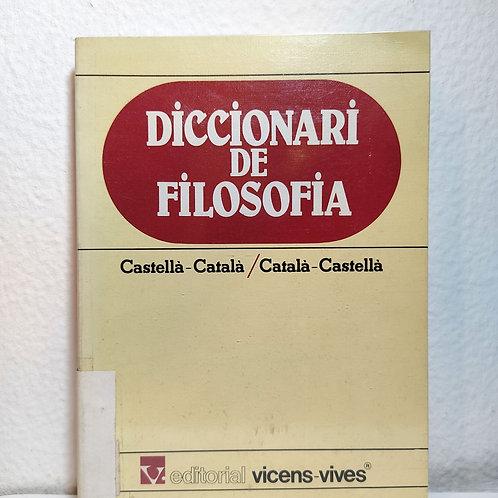 Diccionari de filosofia : castellà-català, català-castellà (Vicencs-Vives)