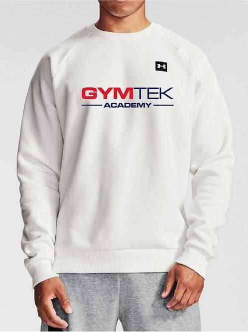ADULT GymTek White Crew Neck Sweatshirt