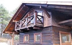 норвежский сруб стильный дом каркас