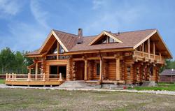 канадский каркас бревенчатый дом