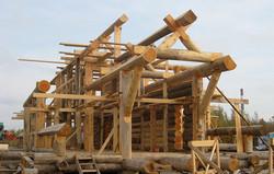 каркас из бревна опытные плотники