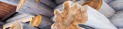 ручная рубка толстое бревно премиум