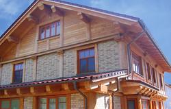 каркасный дом из бруса премиального