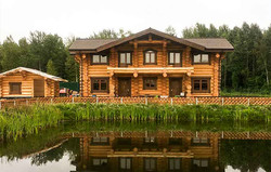 большой дом терем из бревна