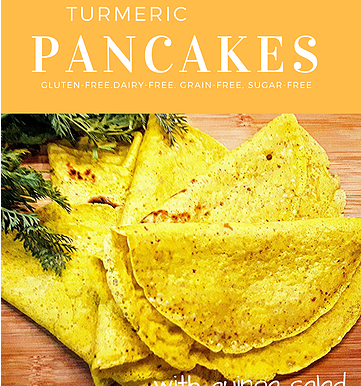 Turmeric Pancakes with Quinoa Salad