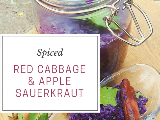 Spiced Red Cabbage & Apple Sauerkraut