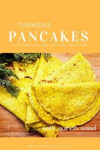 turmeric pancakes gluten free grain free dairy free
