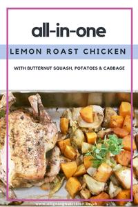 lemon roast chicken butternut squash potatoes cabbage