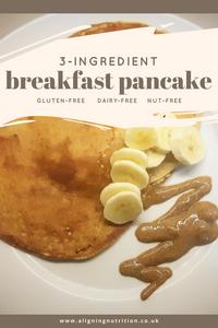 3 ingredient pancake gluten free dairy free nut free