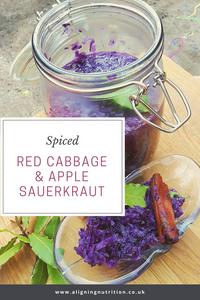 spiced red cabbage apple sauerkraut
