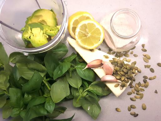 Creamy Avocado & Basil Pesto (nut-free)