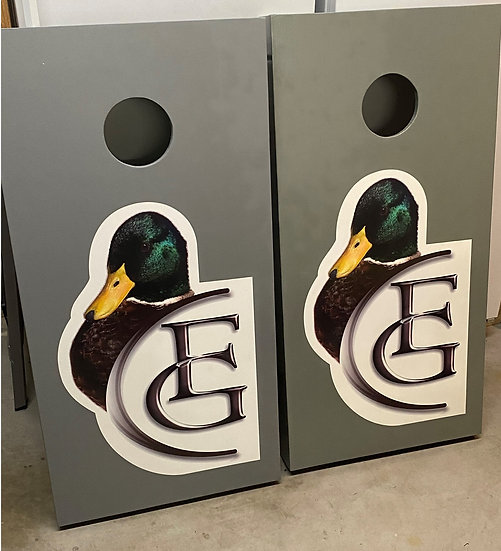 Cornhole boards + bags
