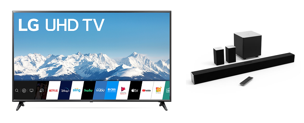 "65"" LG 4K Smart TV + Sound System"