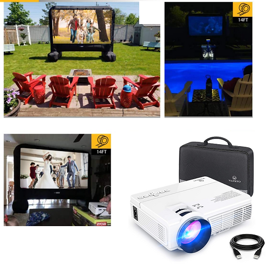 14' Outdoor Movie Theater + Projector