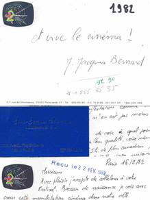 Jean-Jacques Bernard a éié un soutien précieux lors de la création du Festival.