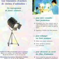 Plaquette de présentation des rencontres d'ateliers des jeunes réalisateurs.