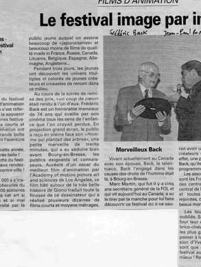 Un trophée d'honneur qui a été droit au coeur de Monsieur Back.