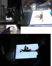 L'atelier animation de sable.
