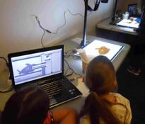 Atelier animation de sable.
