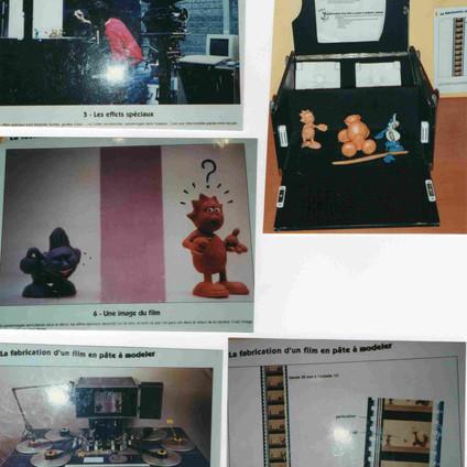 Quelques éléments de l'exposition sur les techniques du cinéma d'animation