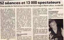 13 000 spectateurs et  René Laloux...
