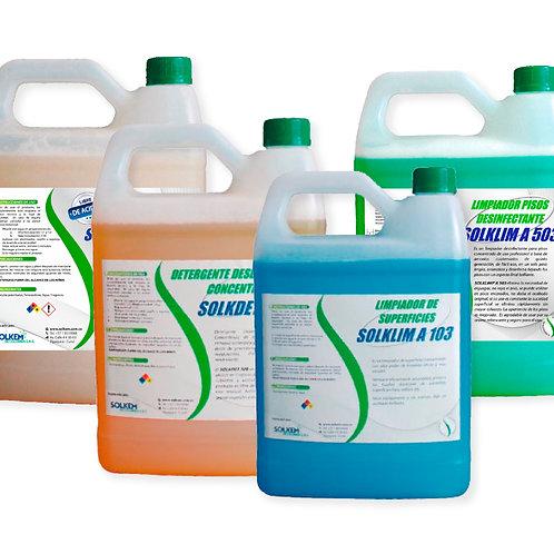Kit de limpieza y desinfección industrial SOLKEM