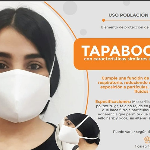 Tapabocas - caja c/100 unidades
