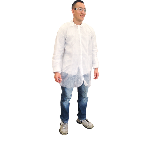 Bata industrial blanca, caja c/10 unidades