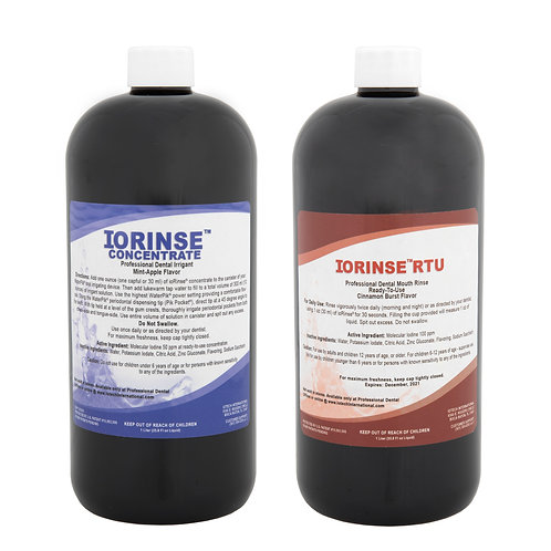 ioRinse™ RTU & Concentrate 12 (1 liter bottles) Mixed Case (Cinnamon Mix)