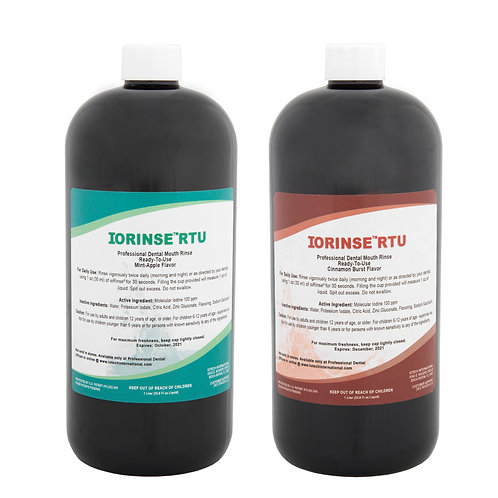 ioRinse™ RTU Ready-To-Use 12 bottle (1 liter) Mixed Case