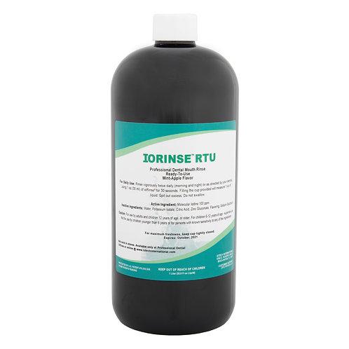 ioRinse™ RTU Ready-To-Use Mouth Rinse Mint Apple - 1 liter bottle